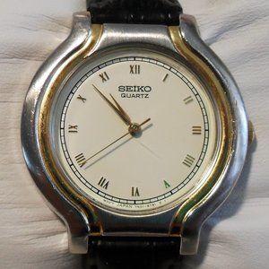 1993 Seiko 7N01-6611 Stainless/Gold White Watch